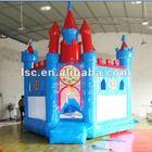 Blue color princess castles inflatable bouncer