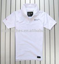 Polo plain white t-shirt for men