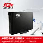"AGE STAR USB3.0 to 2.5"" SATA HDD 2 Bay / RAID External Enclosure:3U2B2A"