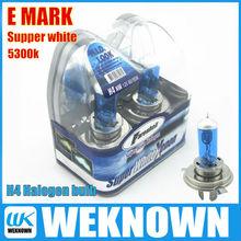Super white h4 halogen bulb 12v 60/55w 5300K