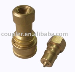 1/4in Female Brass Hydraulic quick coupler
