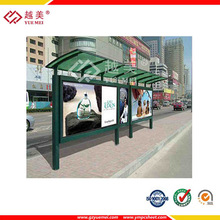 Bus station use the solar panels,polycarbonate hollow sheet