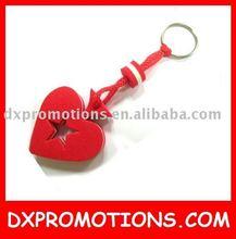 heart shape eva keyring/promotional heart keyring/floating keyring