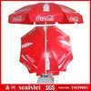 280g PVC fabric beach umbrella, cola promotional beach umbrella,beach umbrella promotional
