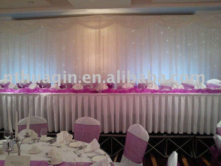 Caja de los plisados 100% poliéster tabla que bordean para la boda y el banquete