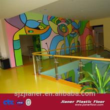 Indoor vinyl sports floor for kindergarden surface