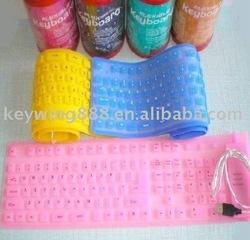 85keys folding silicone keyboard for computer