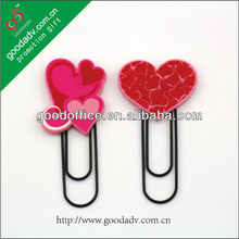 School promotion gifts soft pvc bookmark / rubber bookmark