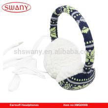 headphone earmuff with speakers