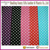 Hot selling PVC dots printing rexine leather fabric