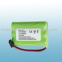 Cordless phone batteries/nimh battery pack 3.6v 800mah