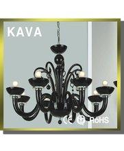 modern black glass chandelier