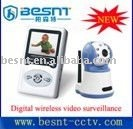 "1/4"" CMOS Image sensor wireless kit, 2.4"" TFT LCD Screen Baby Monitor CCTV security system BS-W209"