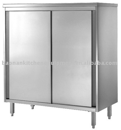 Stainless Steel Kitchen Storage Cabinet Upright Base Cabinet View