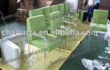 shanghai commercial furniture wholesale acrylic parlour lounge arm sofa