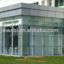 tempered laminated glass wall