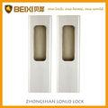 Caliente venta de aleación de zinc acabado en níquel satinado paso de la puerta de vidrio de bloqueo