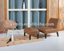 Rattan furniture sofa set adjustable lounge bed