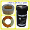 oil filter glue for bonding paper and metal