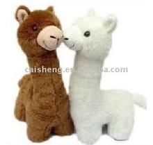 couple intimate stuffed alpaca
