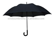 2012 fashion black man straight umbrella with transparent handle