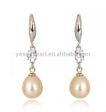 new arrival ! teardrop dangling freshwater pearl earring wholesale