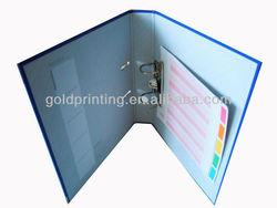 A4 metal ring binder with custom design