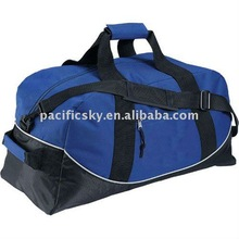 Promotional Multifunction Blue Polyester Duffle travel bag
