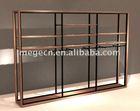 modern wooden counter display shelf