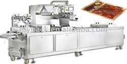 sliced cold meat mixture packaging machine in thermoforming in rigid film with modified atmosphere (MAP)