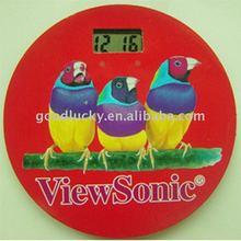 Hot promotion gift-fridge magnet clock for 2012