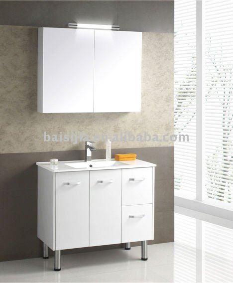 PVC MDF Bathroom Vanity Top Cabinet BSJ C060 90 View Bathroom Vanity BAISI