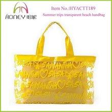 Stylish Transparent PVC Tote Bag Promotional Colorful PVC Transparent Bag