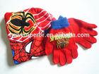 children spiderman knitting hat and glove sets
