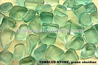 Wholesale gemstone green fluorite tumbled stone
