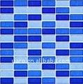 cd11 cor cristalina retangle mosaico de tijolo de vidro