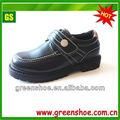 negro de pvc de lainyección zapatos de la escuela para los niños