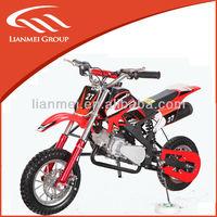 2 wheel 49cc mini dirt bike with alloy pull starter