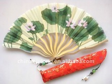 2011 elegent and exquisite hand fan of bamboo for sales promotion or business advertising
