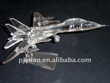 unique glass crystal airplane model handmade airplane model