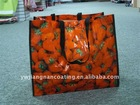 Promotional funny PE knitting cloth shopping bags wholesale
