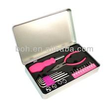 22pcs Pink tool set lady tool set