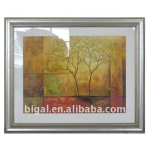 framed abstract plexiglass cardboard painting handpainted on canvas