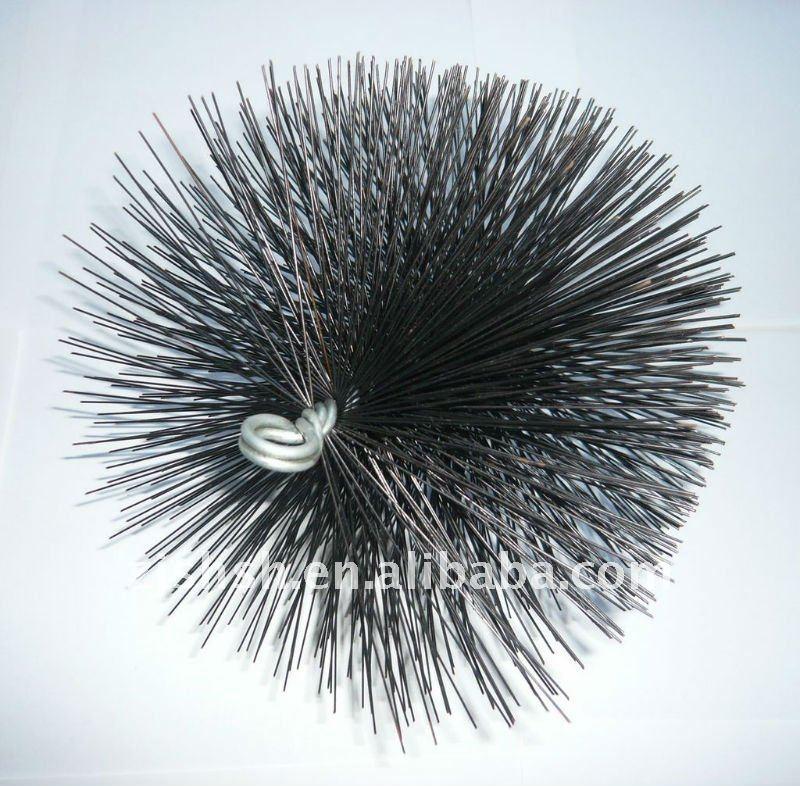 spazzola rotonda camino nylon spazzacamino pennello spazzole per la pulizia canne fumarie