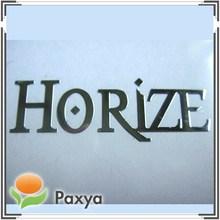 Silver shiny self adhesive metallic name plate sticker