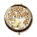 antique à la recherche or bijoux miroir de maquillage compact