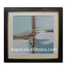 modern abstract art popular plexiglass fabric canvas painting design with mat