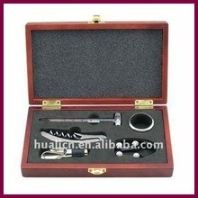Hot luxury wooden box wine set for sale