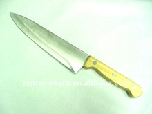 stainless steel chef knife