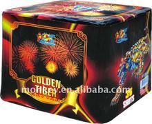 cake 36 shots 500g golden tiger firework cakes